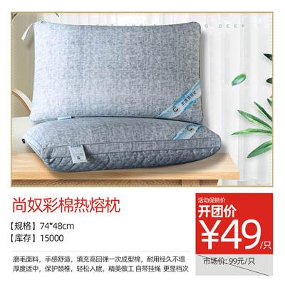 尚奴彩棉热熔枕
