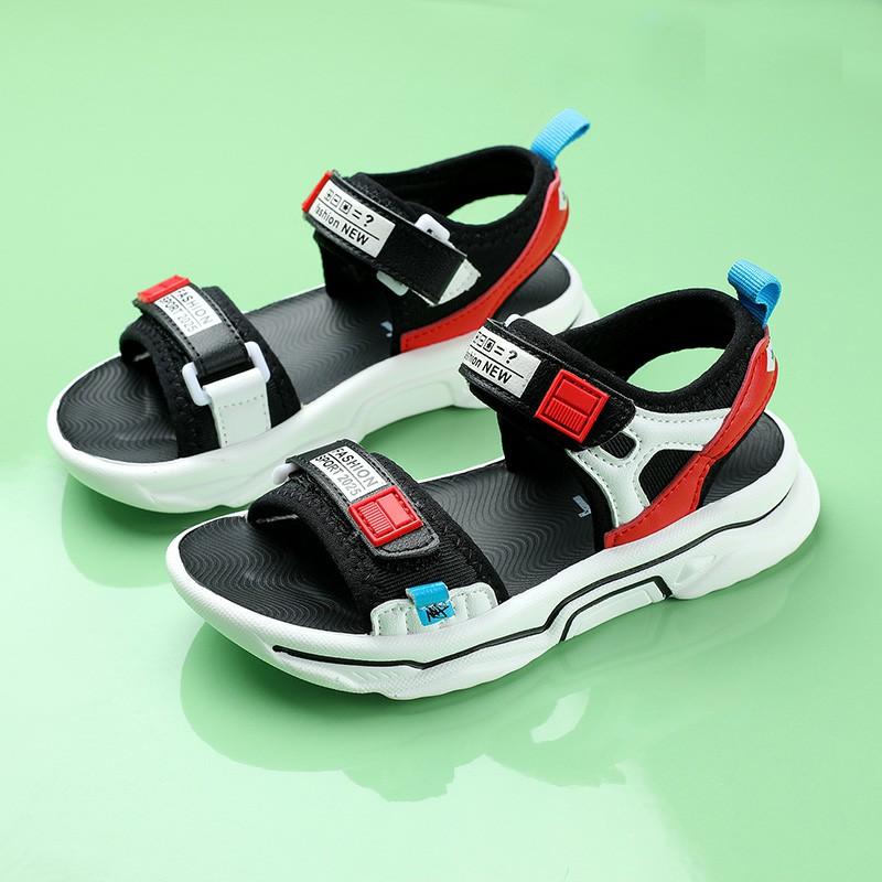 儿童凉鞋,2020新款夏季帅气男孩童鞋软底防滑运动凉鞋