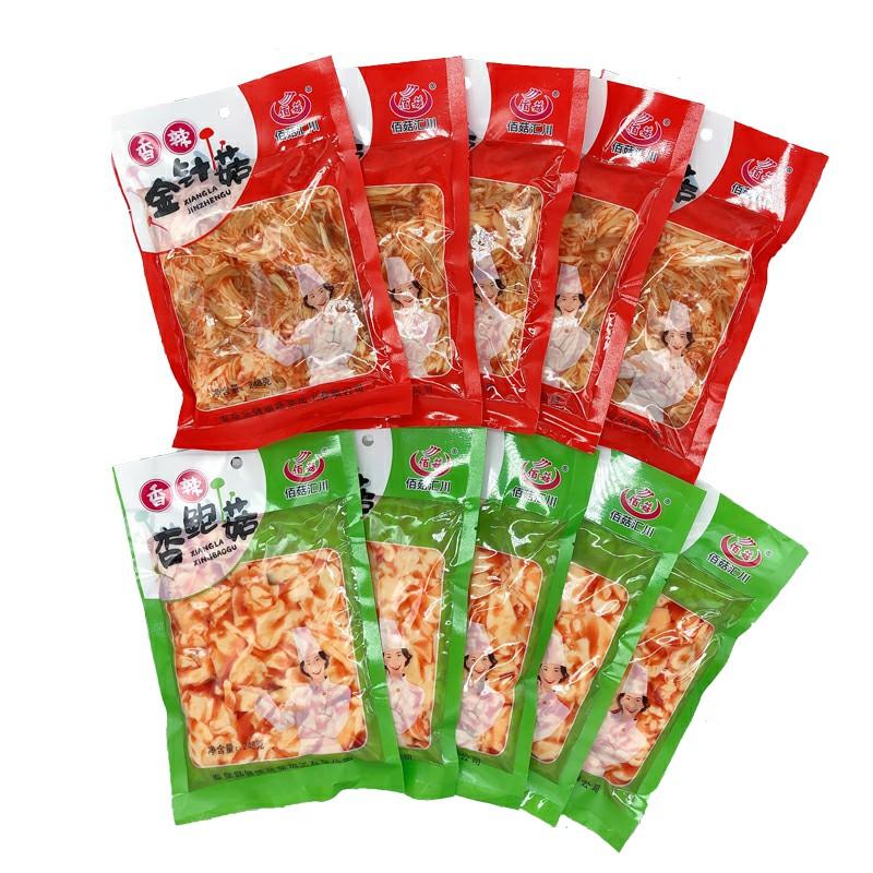 佰菇汇川248g/袋红油金针菇/杏鲍菇组合装 麻辣零食下饭开