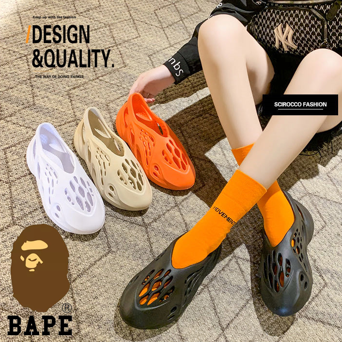 BAPE椰子洞洞鞋