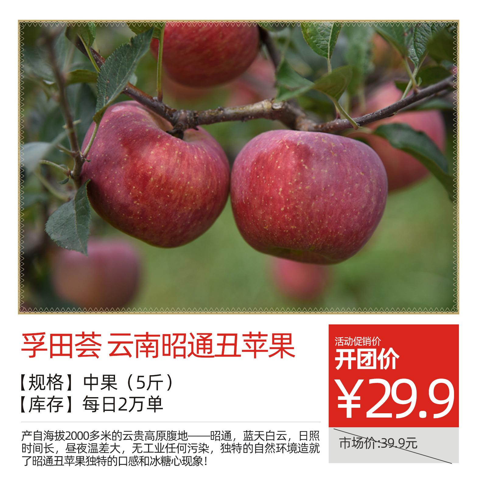 【孚田荟】云南昭通丑苹果